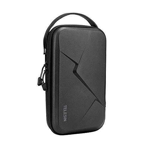 TELESIN Grande custodia per GoPro Hero 8 7 6 5 4 3,DJI Osmo Pocket Action,Insta360,fotocamera digitale,custodia protettiva da viaggio rigida per selfie stick, cinghia di montaggio e altri accessori