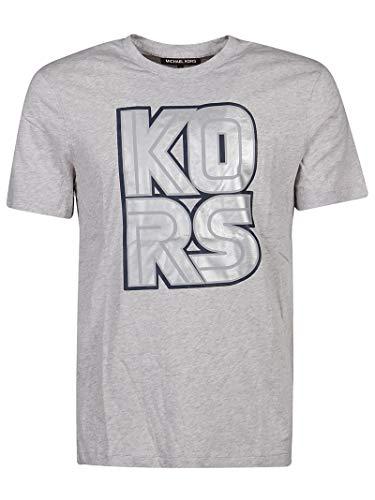 Michael Kors Luxury Fashion Herren CS05JCCFV4030 Grau Baumwolle T-Shirt | Frühling Sommer 20