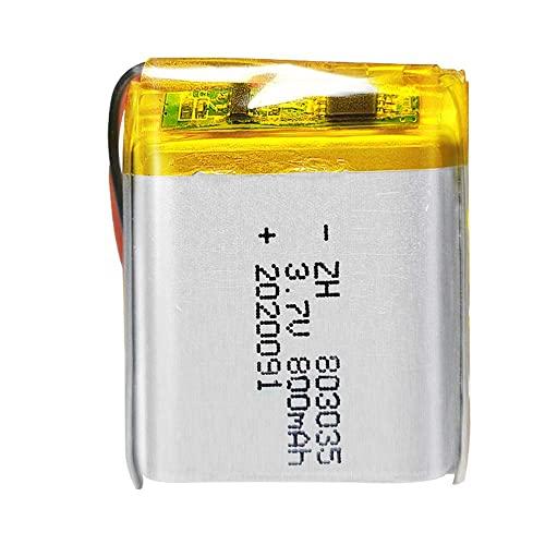 kusashangye Batteria Sostitutiva RC Batteria agli ioni di Litio polimerica 3. 7v 803035 Batteria Ricaricabile da 800 mAh per Prodotti digitali