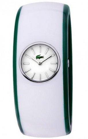 Lacoste 2000399 Reloj Pop Time Ladies - Esfera blanca de plástico con movimiento de cuarzo