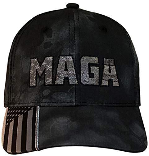 Treefrogg Apparel MAGA Hat - Trump Cap - Grey MAGA - Flag Kryptek Typhon (MAGA USA-Flag Kryptek Typhon/CharcGrey)