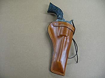 Azula Custom Leather Molded Strong Side Gun Holster for Ruger Single Six 5.5  Single Action Revolver TAN Right Hand