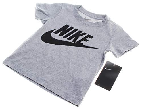 Nike Kids Baby Boy's Short Sleeve Graphic T-Shirt (Toddler) Dark Grey Heather 2T Toddler
