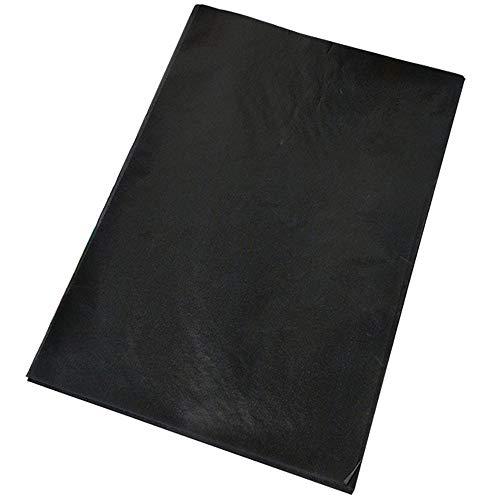 25PCS Papel de transferencia de carbón de grafito Papel de calco de carbón negro Papel de pintura reutilizable Papel de copia para duplicar escribir, trazar, dibujar