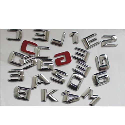 Preisvergleich Produktbild Chrome Trunk Letters Nummernschild-Emblem AMG W176 W204 W205 X117 X156 X253 W166 W212 W213 W221 W222