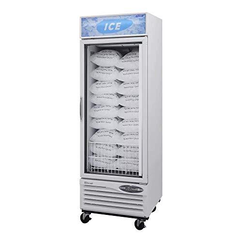 21.1cf Glass Ice Bag Freezer Merchandiser 1 Swing Door