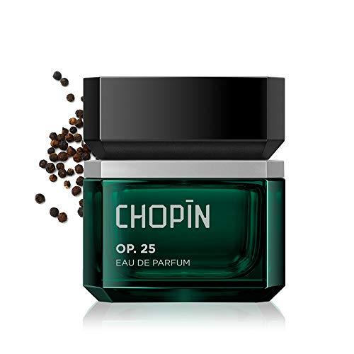 CHOPIN Op.25 Parfüm Herren Dynamischer Herrenduft mit Zeitlosem Schwarzem Pfeffer, Jasmin, Holziger Duft Eau de Parfum - 50 ml