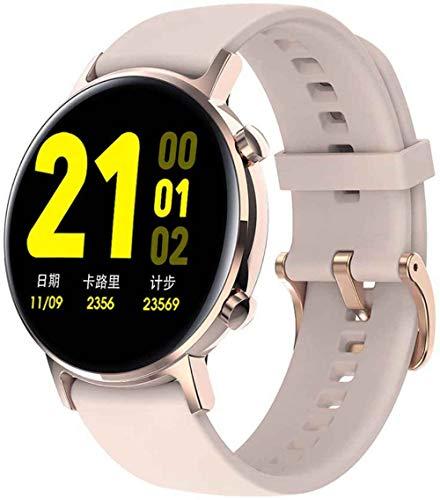 Reloj de Seguimiento de Actividad Física de 1.3 Pulgadas, Monitor de Frecuencia Cardíaca, 10 Modos de Ejercicio, Monitor de Sueño de Contador,Pink