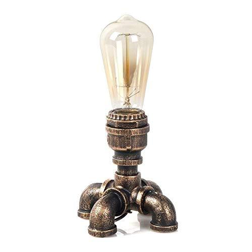 MALYLN Steampunk Shisha Tischlampe Industrie Edison E27 Tischlampe Schlafzimmer Nachttischlampe Kind Nachtlicht