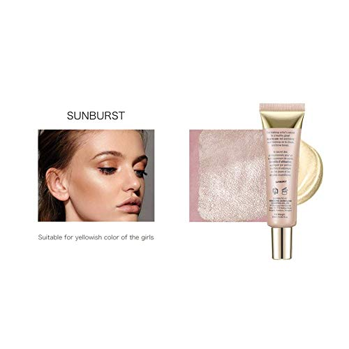 KAYI Softube Pearl Shimmer Liquid Highlighter - Face Illuminator, Bronzer für Cheekbone, T-Zone, Brücke der Nase