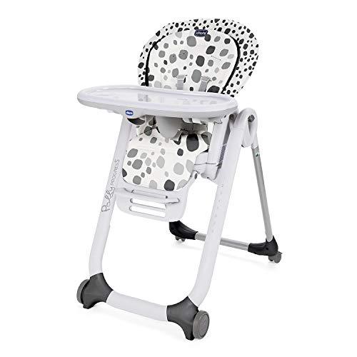 Chicco Polly Progres5 Verstellbarer Hochstuhl ab Geburt bis 3 Jahre (15 kg), Hochstuhl Baby mit Liegefunktion und Sitzerhöhung, mit 4 Rädern und Kompakter Schließung