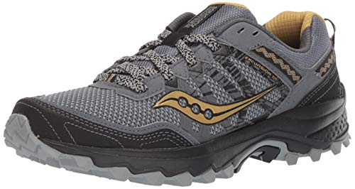 Saucony Men's Grid Excursion TR12 Trail Running Shoe, Silver/Gold, 8.5 M US