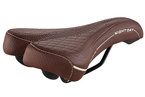 Selle Montegrappa Sillín de bicicleta MTB Trekking Night Day 3070, fabricado en Italia, color: marrón oscuro