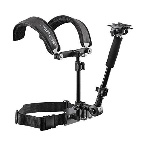 Walimex Pro Video Schulterstativ (Auslegearm, Schnellwechselplatte, Bauchgurt, Follow-Fokus-Ring)