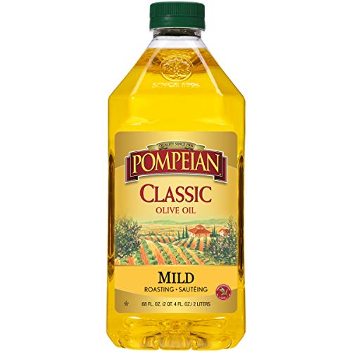 Pompeian Classic Olive Oil, Mild Flavor, Perfect for Roasting and Sauteing, Naturally Gluten Free, Non-Allergenic, Non-GMO, 68 FL. OZ., Single Bottle
