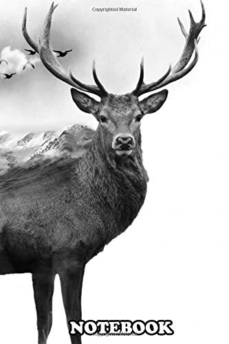 Notebook: Deer Exposure Gray , Journal for Writing, College Ruled Size 6' x 9', 110 Pages