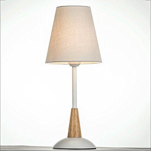PIAOLING Lampe de table en tissu simple en Europe, chambre à coucher moderne, chambre à coucher, éclairage décoratif (Color : B)