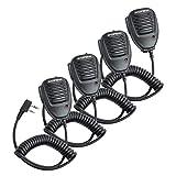 Baofeng Two Way Radio Handheld Speaker Mic Microphone, Remote Shoulder Mic for BaoFeng UV-5R BF-888S UV-82 UV-S9 Plus BF-F8HP UV-10R UV-11R BF-H6 GT-3 DM-5R Ham Two Way Radio Walkie Talkie (4 Pack)