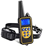 HUJIAN 880Yd Electric Remote Control Pet Training Collar Waterproof Rechargeable Lcd Display 3