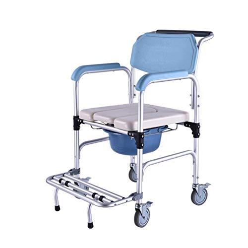 SXZHSM Multifunctionele bejaarde gehandicapte toiletbril patiënt zorg badstoel met wiel wandelhulpmiddelen