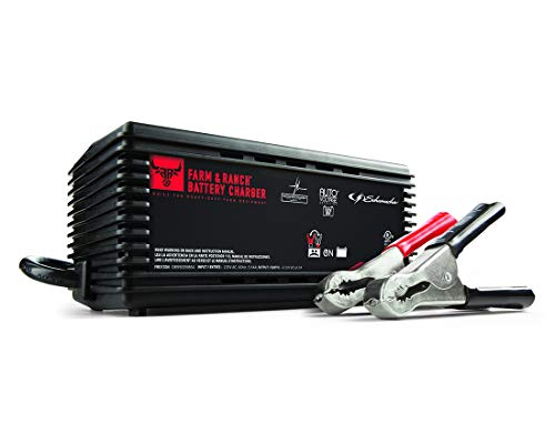 Schumacher Farm & Ranch Battery Charger/Maintainer- 2A, 6V/12V - For Maintaining All Power Sport, Car and Boat Batteries