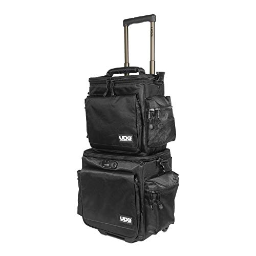 UDG Ultimate SlingBag Trolley Set DeLuxe Schwarz, Orange im Inneren MK2 (Ohne CD Wallet) U9679BL/OR