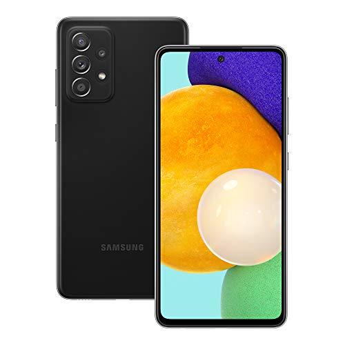 Samsung Galaxy A52 Smartphone ohne Vertrag 6.5 Zoll Infinity-O FHD+ Display, 128 GB Speicher, 4.500 mAh Akku und Super-Schnellladefunktion, schwarz, 30 Monate Herstellergarantie [Exklusiv bei Amazon]
