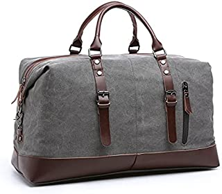 Travel Duffel Bag, 56cm Weekender Over Night Carry On Bag, Sturdy Durable Large Canvas Gym Luggage for Men & Women…