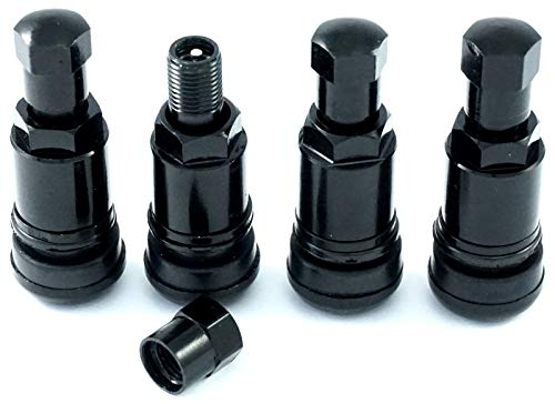 4 Stück 11,3mm Aluminium-Ventil Felgenventile Metall-Ventil Schwarz Leicht