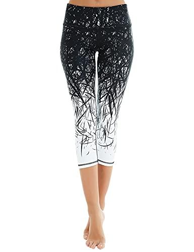 COOLOMG Women's Yoga Capri Pants Co…