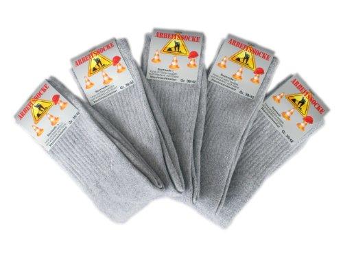 Star Socks Germany 10 Paar stabile Arbeitssocken - Grau, Groesse: 39-42
