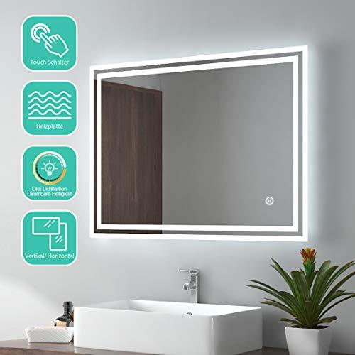 SEBSON/® L/ámpara LED Espejo 780x108x40mm 15W ba/ño IP44 78cm luz blanca neutra 4000K armario 1100lm pinza