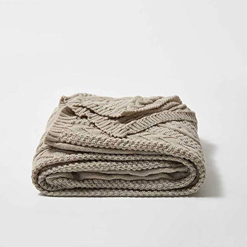 JESU filt för soffa, modern dekorativ filt för soffa soffa säng stol bil kontor resor, grå, 130 x 160 cm (51 x 53 tum)