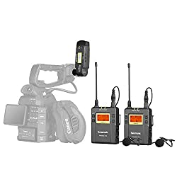 powerful Sony HDR CX405 Camcorder Video Collecting messages from wireless lavalier microphones for Youtube, Saramonic …