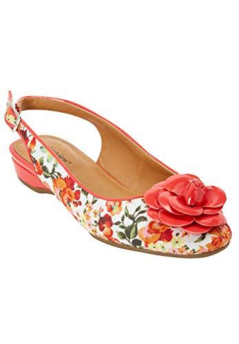 Comfortview Women's Wide Width The Jessa Sling Sneaker - 8 WW, Orange Blossom