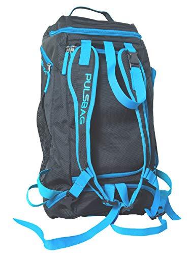 Pulsbag 3in1 Sporttasche, Reise-Rucksack-Funktion, Fächer individuell einteilbar, wasserdicht, Damen, Herren, Kompakt, 30 Liter