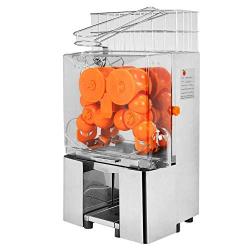 VBENLEM 110V Commercial Juicer Machine, with Pull-Out Filter Box, Electric Citrus Juice Squeezer, 22-30 Oranges Per Minute, Lemon Making Mach, 304 Stainless Steel Tank and PC Cover