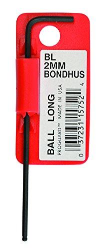 Starrett 15752 Cles coudees longues a boule metrique avec code barres, Rouge