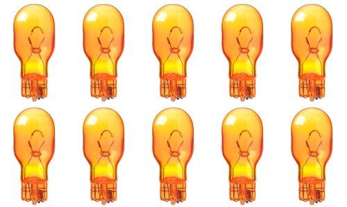 CEC Industries #921NA (Amber) Bulbs, 12.8 V, 17.92 W, W2.1x9.5d Base, T-5 shape (Box of 10)