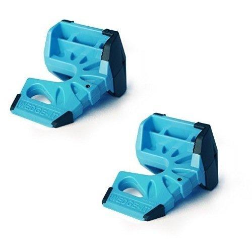 Wedge-It Lot de 2 butées de porte bleu