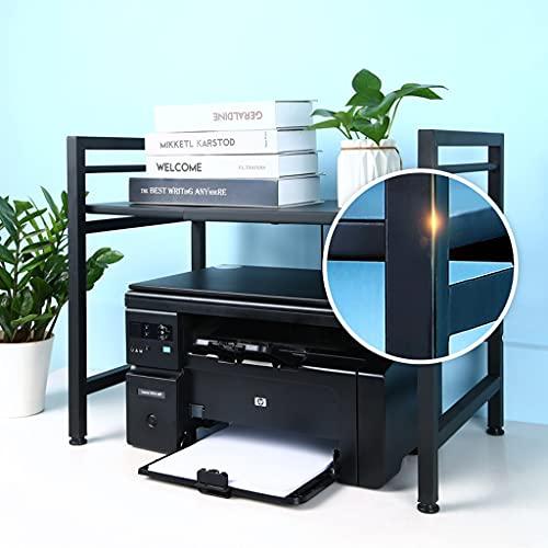 Soporte de Impresora Impresora Ajustable Stands Home and Office Organization and Storage Desk Paper Organizers Desk Organizer para impresoras Escáner de máquina de fax Organizador de Almacenamiento