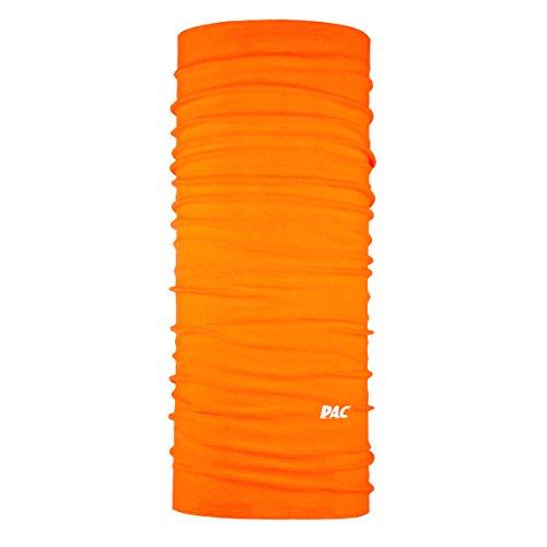 P.A.C. Original Solid Neon Orange Multifunktionstuch - nahtloses Mikrofaser Schlauchtuch, Halstuch, Schal, Kopftuch, Unisex, 10 Anwendungsmöglichkeiten
