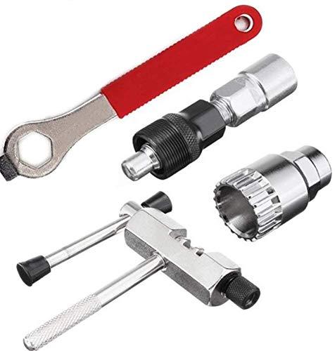 4 in1 Bicycle Repair Tools Set Fiets Crank Trekker, fietsketting Breaker, Fiets trapas verwijderen Tool