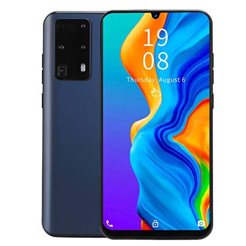 Hyuduo1 Teléfono Inteligente 3G Desbloqueado, P40 Pro + teléfono de Pantalla Grande de 7.2 Pulgadas, teléfono móvil con Doble Modo de Espera, reconocimiento Facial/de Huellas Dactilares(Negro)
