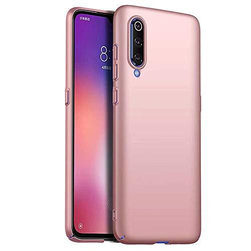 Funda Xiaomi Mi 9 SE Caja Caso MUTOUREN PC Carcasa Anti-Scratch Anti-rasguños Bumper Protectora de teléfono Case Cover para Xiaomi Mi 9 SE (Oro Rosa)