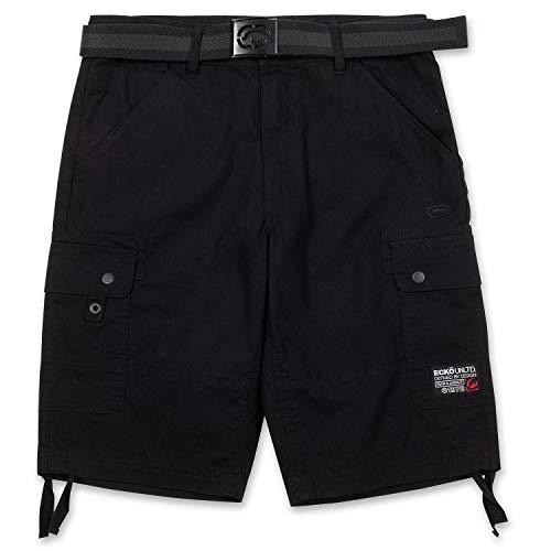 Ecko Unltd. Shorts für Herren, Ripstop-Cargo-Shorts für Herren, große und große Shorts mit Gürtel - Schwarz - 56