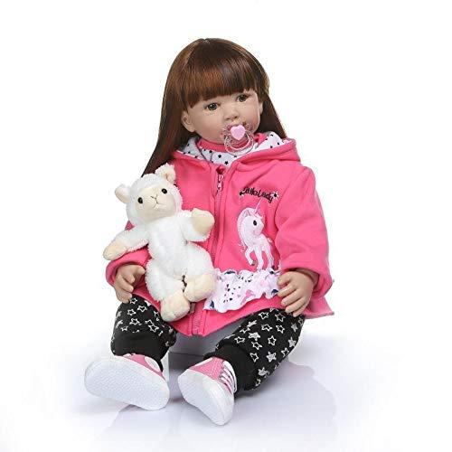 SPIDER NI 60cm Rebirth Puppe Simulation Kleines Mädchen Rapunzel Puppe Perfect Girl Geburtstags-Geschenk (ohne Plüschtiere)