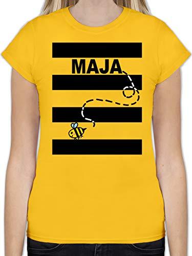 Karneval & Fasching - Bienen Kostüm Maja - L - Gelb - Bienen t-Shirt - L191 - Tailliertes Tshirt für Damen und Frauen T-Shirt