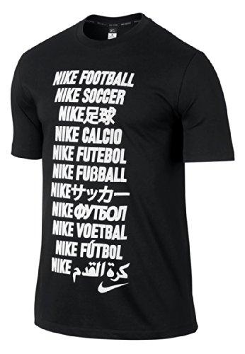 Nike Academy t-Shirt pour Homme Football t-Shirt à Manches Courtes pour Homme L Noir - Noir/Blanc