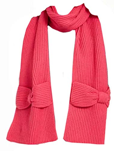 kate spade new york Solid Bow Muffler Scarf Begonia Bloom